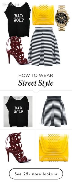 """pop of colors"" by jaelxoxo15 on Polyvore featuring Jane Norman, YLIANA YEPEZ and MICHAEL Michael Kors"