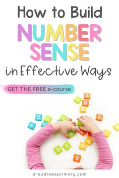 Calling all primary teachers! Come take our FREE email course on building number sense skills in the classroom with hands-on number activities and effective classroom math routines. Learn actionable ways to grow a child's number fluency and math skills needed for future success. You'll gain effective numeracy strategies, must try math activities, and a FREE printable poster and resources to build routines, in your classroom, or at home in a homeschool setting. Number Sense Activities, Kindergarten Math Activities, Hands On Activities, Teaching Math, Teacher Resources, Math Stations, Math Centers, Math Skills, Math Lessons