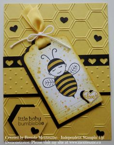 Handmade Card using Baby Bumblebee stamp set. Created by Brenda Montesano - Independent Stampin' Up! Demonstrator. Please visit my site at www.montesano.ca