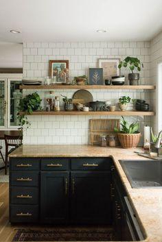 kitchen / appliances kitchen / innovation kitchen / ikea kitchen / layout kitchen / s … Kitchen Ikea, Dark Kitchen Cabinets, Kitchen Corner, Kitchen Flooring, Rustic Kitchen, Kitchen Countertops, Kitchen Interior, Kitchen Backsplash, Backsplash Ideas