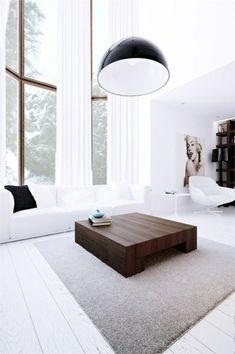 einrichtungsideen wohnzimmer möbel modern weiß glas   einrichten, Mobel ideea