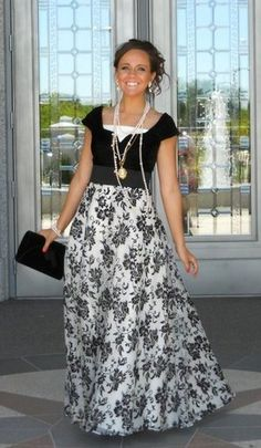I want this dress!!!  And the necklaces are beautiful with it.  She said she got it at a thrift store tho.  Sad day.