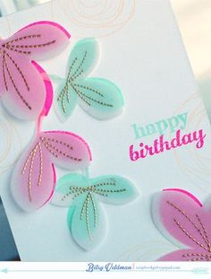 Gold embossing on vellum die cut over solid image (stamped or die cut) - try with MB