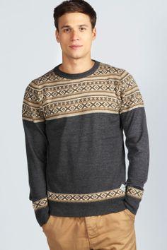 Fairisle Knit Jumper >> http://www.boohoo.com/restofworld/gifts/gifts-for-him/icat/new-in/fairisle-knit-jumper/invt/mzz96809