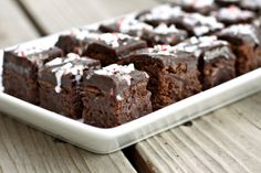 Peppermint Truffle Brownies.