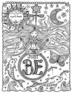 Coloring Book BE BrAvE Inspirational Sayings Art by ChubbyMermaid