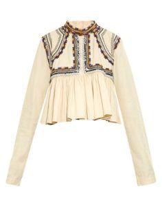 Sachi embellished pleated top | Isabel Marant | MATCHESFASHION.COM AU