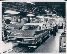 1961 DeSoto on the assembly line.