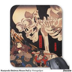 Kuniyoshi Skeleton Mouse Pad