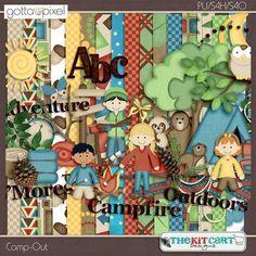 Camp-Out Digital Scrapbook Kit. $5.99 at Gotta Pixel www.gottapixel.net/