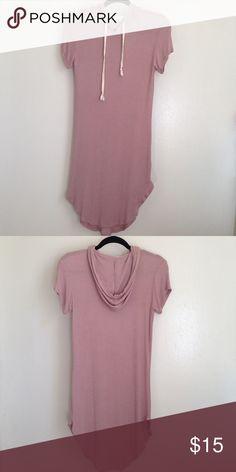 T shirt dress Pre owned mauve hoodie t shirt dress with curved hem true to size Dresses Mini