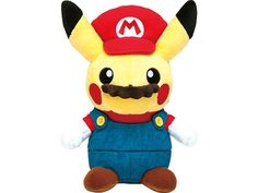 Pokemon Center Original Mario Pikachu Plush Stuffed Doll Toy from Japan  #PokemonCenter