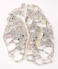Matthew Picton city maps - Dublin, via Passion For Paper & Print
