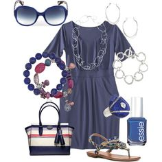 """Blue & Silver Love"" by mswhit62 on Polyvore"