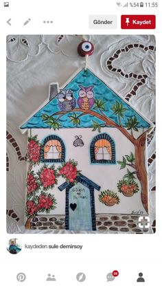 House Quilts, Cute House, Ceramic Houses, Pottery Sculpture, Turkish Art, Spring Art, Driftwood Art, Ceramic Design, Paper Clay
