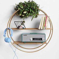 Wire Circle Shelf-