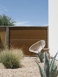 Image 28 of 35 from gallery of Canal House / The Ranch Mine. Photograph by Roehner + Ryan Yard Design, Fence Design, Corrugated Metal Fence, Metal Fences, Iron Fences, Fencing, Decomposed Granite Patio, Patio Central, Backyard Fences