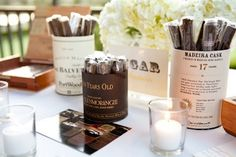 Consider including a whiskey and cigar bar at your wedding/party - the guys will be all over it