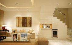 A solução da arquiteta Roberta Devisate também foi um bar com adega climatizada. Foto: - Divulgação
