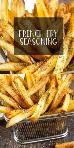 MOST AMAZING French Fry Seasoning HOMEMADE - Take Two Tapas Air Fry French Fries, Best French Fries, Making French Fries, Homemade French Fries, Homemade Fries In Oven, Garlic French Fries, Healthy French Fries, Perfect French Fries, Seasoned Fries