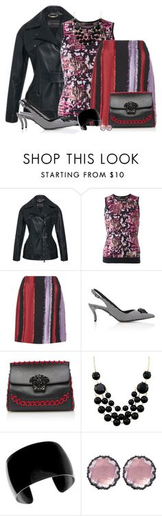 """""""Stripes"""" by debpat on Polyvore featuring Versace and Larkspur & Hawk"""