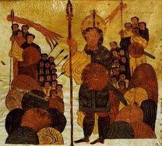 Biblia de San Isidoro de Leon, Biblioteca, Colegiata S. Isidoro, Leon, 960 - Goliath Challenges the Israelites