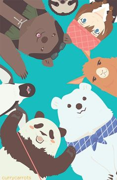 Anime: shirokuma cafe Polar Bear Cafe, Polar Bears, Wallpaper Fofos, Buddhist Teachings, Anime Kawaii, Panda Bear, Animals And Pets, Manga Anime, Illustration