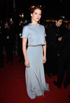 Léa Seydoux portait une robe Miu Miu - J3