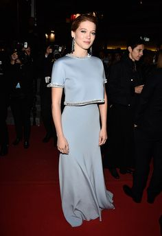 Léa Seydoux, Miu Miu dress, Cannes 2015
