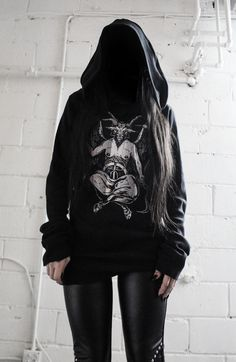 Image of TOXIC VISION EASYWEAR Baphomet sweater cloak ALL SIZES MEN AND WOMEN 2