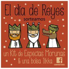 Visita nuestra página de Facebook y participa en nuestro sorteo del día Reyes! www.tikkacompany.com