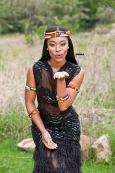 traditional wedding gowns for black girls – shweshwe - NALOADED African Attire, African Wear, African Fashion Dresses, African Women, African Dress, Ankara Fashion, Tribal Fashion, African Traditional Dresses, Traditional Outfits