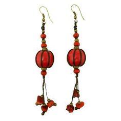 Tierra wood earrings
