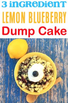 Blueberry Cobbler With Cake Mix Easy! Lemon pie filling and buttery crumble are so yummy! Lemon Blueberry Dump Cake Recipe, Blueberry Dump Cakes, Blueberry Cobbler, Spring Desserts, Thanksgiving Desserts, Autumn Desserts, Easter Desserts, Dump Cake Recipes, Dessert Recipes