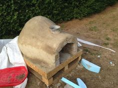 How to Make a Homemade Pizza Oven : 8 Steps (with Pictures) - Instructables Outdoor Rooms, Outdoor Showers, Outdoor Kitchens, Outdoor Decor, Outdoor Living, Brick Oven Outdoor, Outdoor Bars, Clay Oven, Building A Barn Door