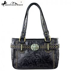 Belt N Buckle Studded Concho Montana West Handbag Purse