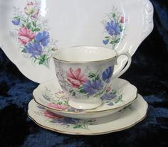 Royal Albert Tea Trio and Cake Plate Friendship by TheWhistlingMan, £35.00