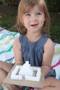 Building Sugar Cube Structures - Mama.Papa.Bubba.