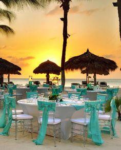 Occidental Grand Aruba Resort wedding ceremony tablescape