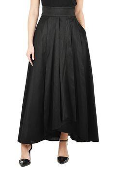 I <3 this Faux wrap dupion maxi skirt from eShakti
