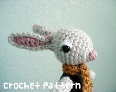 crochet pattern - rabbit amigurumi - kawaii bunny plushie woodland stuffed animal - (instant download)