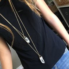 """NWT NY&Co Layered Clear Crystal Necklace This necklace of semi-precious stones is gorgeous. Stones are real and each one is different. Longest chain hangs 38"""" and necklace has a 3"""" extender. Questions? Please ask. Sorry, no trades. Bundle for a discount! New York & Company Jewelry Necklaces"""