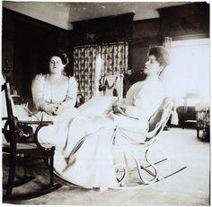 "Empress Alexandra (right) with her close friend Anna ""Aniia"" Vyrubova"