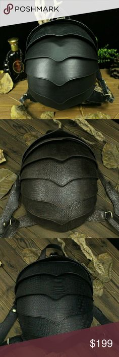 Beetle shaped Back pack female cow leather Beetle shaped back pack female cow leather Bags Backpacks