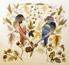 Crewelwork Company Crewel Embroidery kits - they're gorgeous!