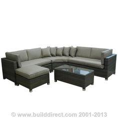BuildDirect®: Kontiki Patio Furniture   Monte Carlo Series | Tea Lounge |  Pinterest | Wicker Sofa, Sofa Set And Patios