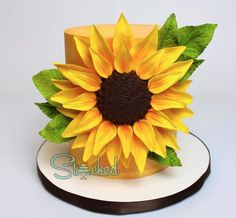 Satin Ice fondant icing is an allergy free, cake decorating tool used to make custom cakes, cookies & cupcakes. Pretty Cakes, Beautiful Cakes, Amazing Cakes, Cake Decorating Tools, Decorating Ideas, Fondant Cakes, Cupcake Cakes, Satin Ice Fondant, Sunflower Cakes