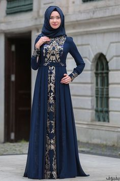 ملابس هندية للمحجبات: 40 فستاناً هندياً للمحجبات موضة 2018 Batik Fashion, Abaya Fashion, Fashion Dresses, Muslim Women Fashion, Islamic Fashion, Hijab Evening Dress, Hijab Style Dress, Dress Pesta, Frocks For Girls