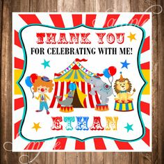 Carnival Favor TagsCircus Printable Favor Tags by thepaperkingdom