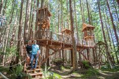 Treehouse Masters Season 11 Finale: Climb-in Movie Theater — Nelson Treehouse Building A Treehouse, Treehouse Ideas, Cleveland Botanical Garden, Normal House, Tree House Plans, Tree House Designs, In The Tree, Movie Theater, Building Design
